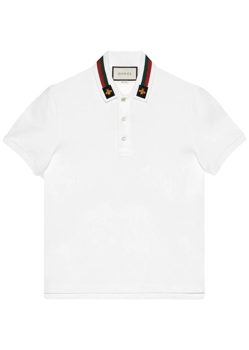 d1d93f2b Gucci Cotton polo with Web and bee | Casual Shirts