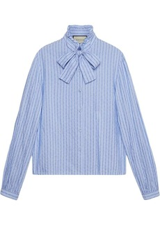 Cotton shirt with Gucci pinstripe