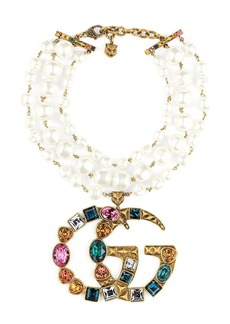 Gucci Crystal Double G necklace