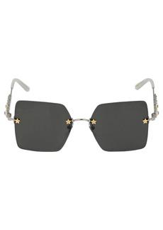 Gucci Crystal-embellished Metal Sunglasses
