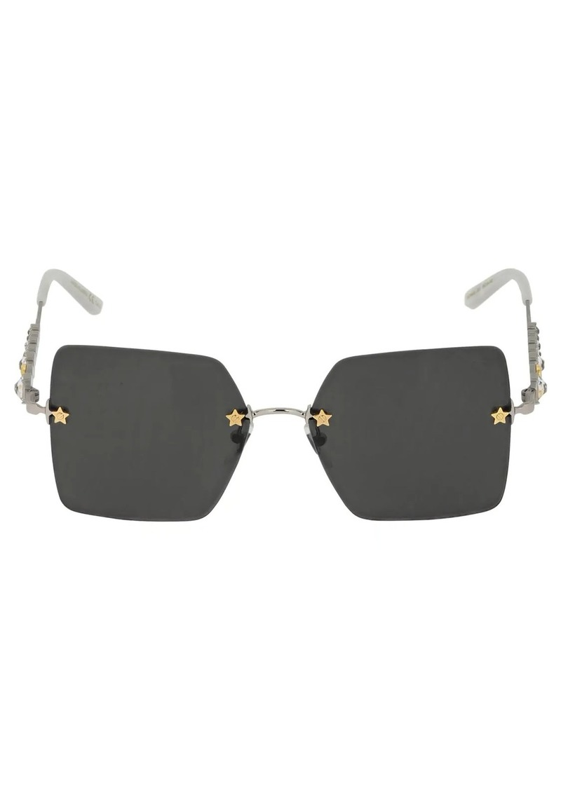 Gucci Crystal-embellished Metal Sunglasses