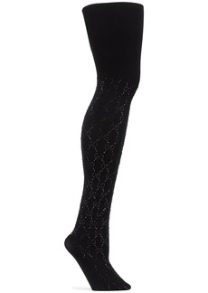 Gucci crystal GG tights
