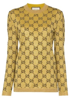 Gucci crystal GG wool blend jumper