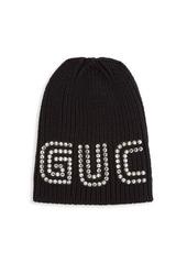 Gucci Crystal Logo Wool Hat