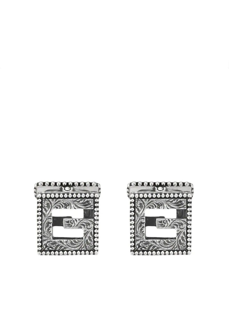 Gucci Cufflinks with Square G in silver