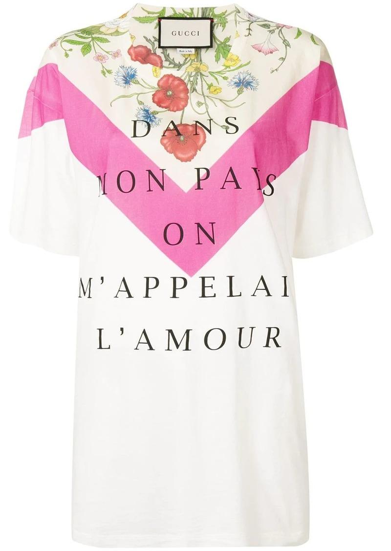 Gucci Dans Mon Pays On M'Appelai L'Amour T-shirt