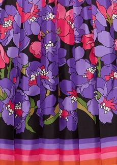 Gucci Degradé flowers silk twill skirt