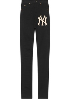 Gucci Denim skinny pants with NY Yankees™ patch