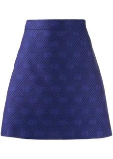 Gucci Diagonal GG stripe A-line skirt