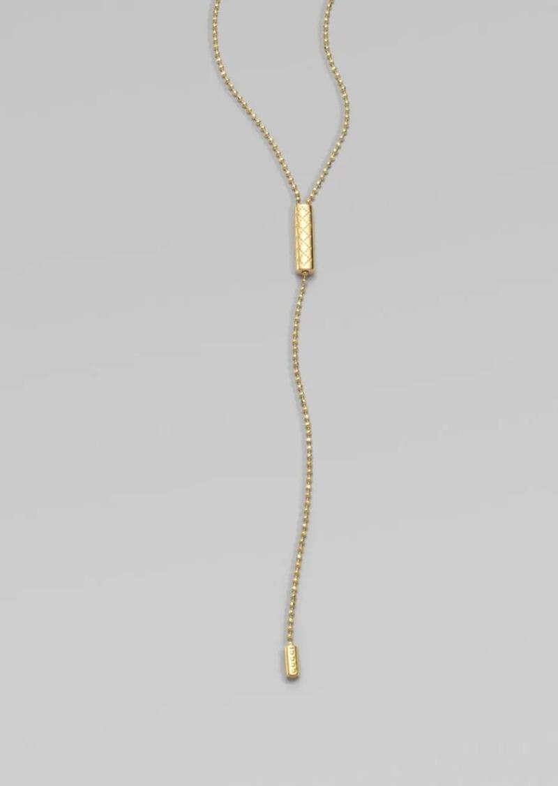 7ddf3c6c2 Gucci Diamantissima 18K Yellow Gold Lariat Necklace | Jewelry