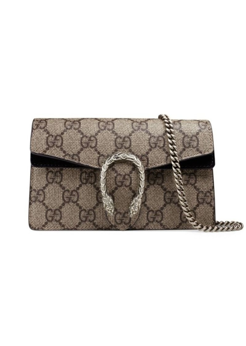 c7eb47e303b Gucci Dionysus GG Supreme Mini Chain Shoulder Bag | Handbags