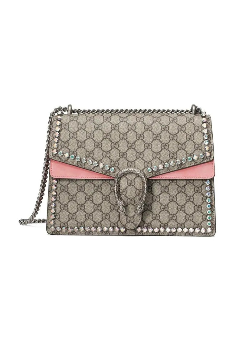 1796575fc28c Gucci Dionysus GG Supreme shoulder bag with crystals | Handbags