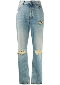 Gucci distressed-effect straight-leg jeans