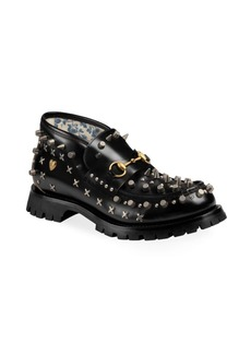 Gucci Django Studded Leather Boots