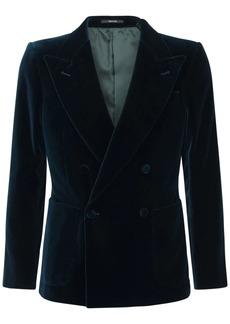 Gucci Double Breast Cotton Blend Velvet Jacket