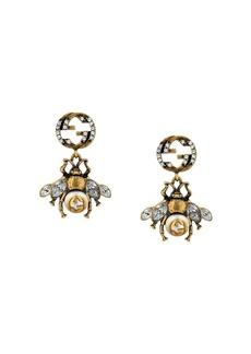 Gucci Double G bee earrings