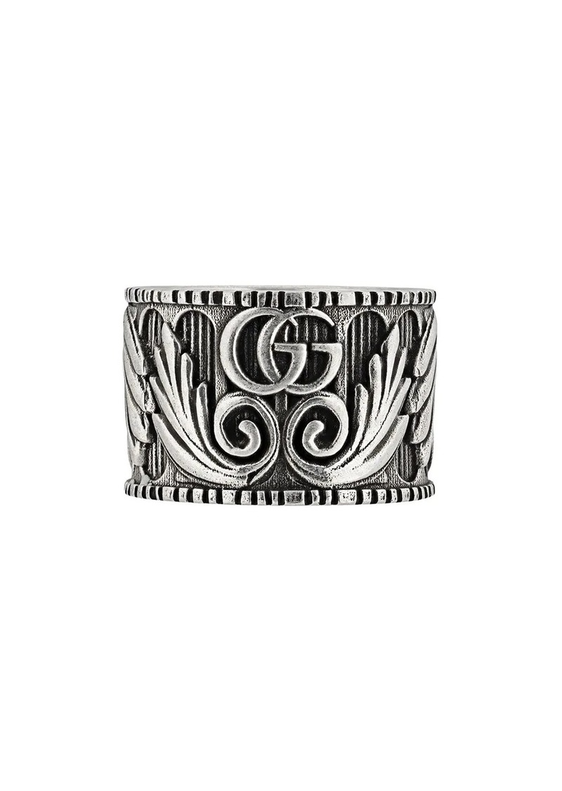 Gucci Double G leaf motif ring