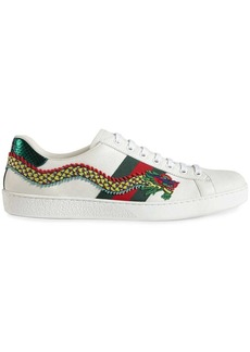 Gucci Dragon Ace embroidered leather sneaker