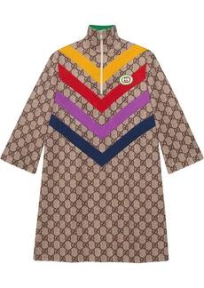 Gucci chevron-striped GG-print dress
