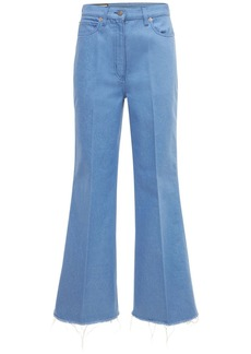 Gucci Eco Washed Dyed Denim Wide Leg Pants