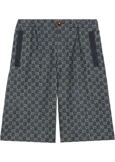 Gucci eco-washed GG denim shorts