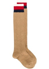Gucci elongated striped socks