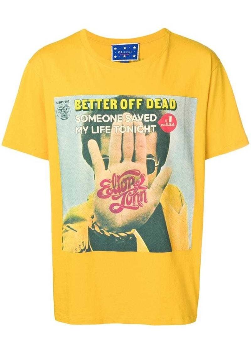 cef2554f3d62 Gucci Elton John print T-shirt | T Shirts