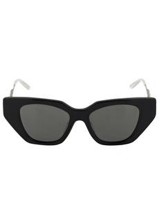 Gucci Embellished Acetate Cat Eye Sunglasses