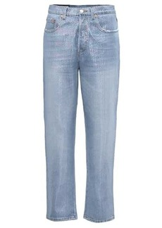 Gucci Embellished high-rise jeans