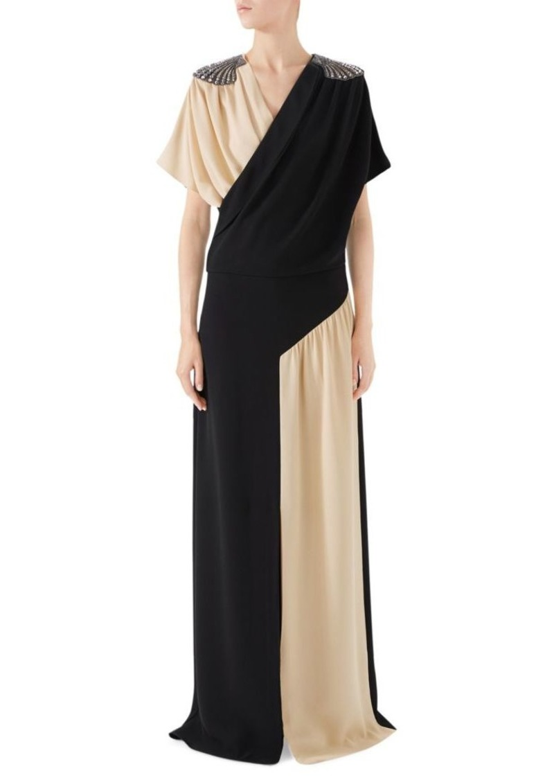 6b3966832 Gucci Embellished Silk Wrap Gown | Dresses