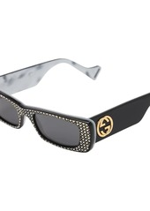 Gucci Embellished Squared Acetate Sunglasses