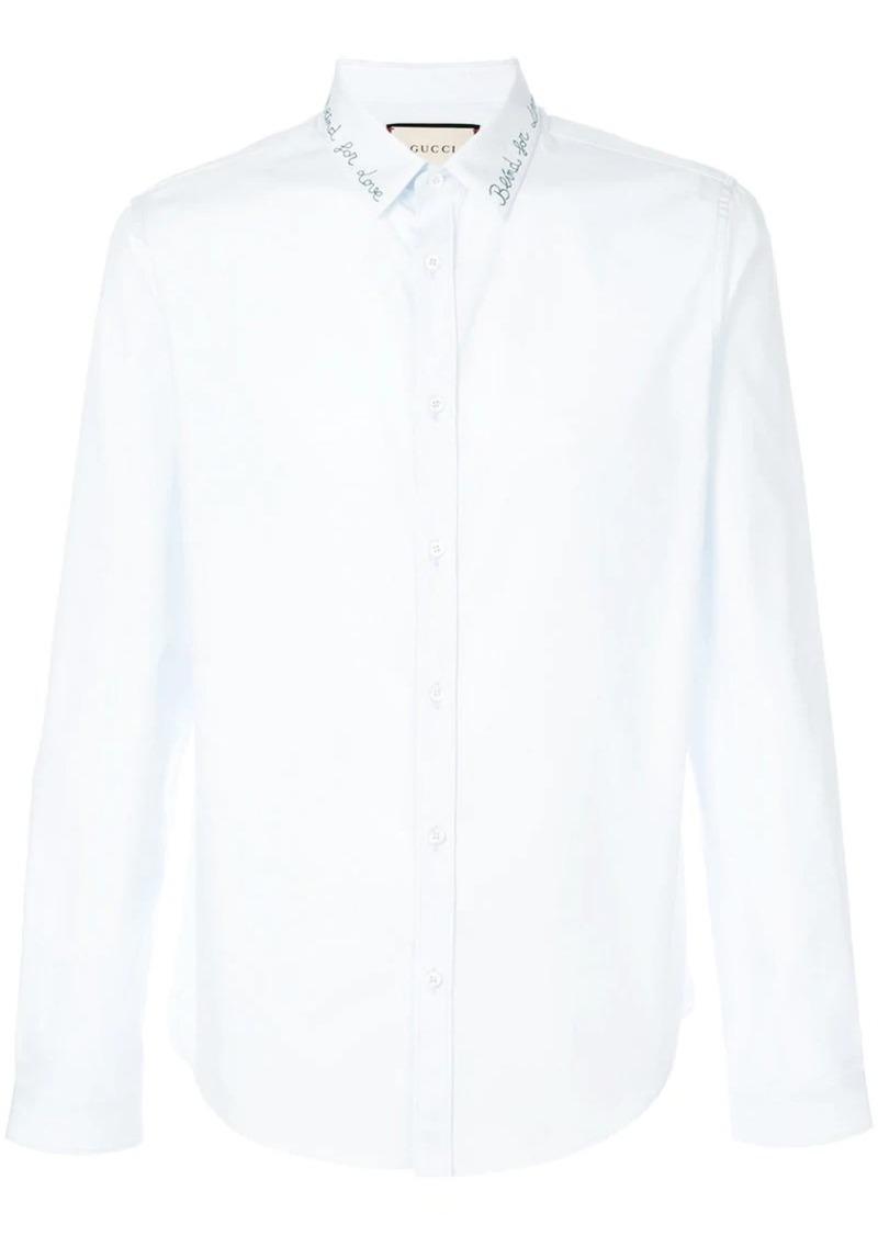 5b0a5e550 Gucci Embroidered cotton Duke shirt   Casual Shirts