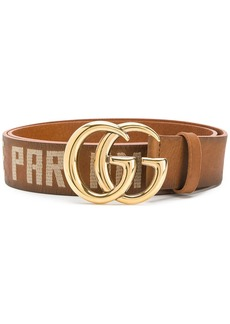 Gucci embroidered Double G buckle belt