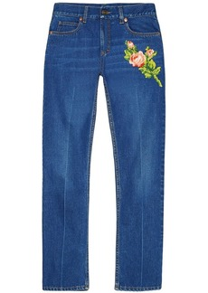 Gucci embroidered jeans