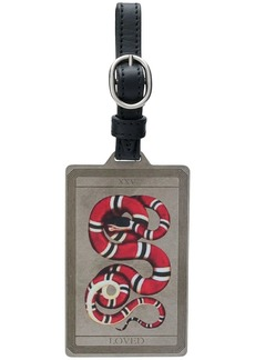 Gucci embroidered luggage tag