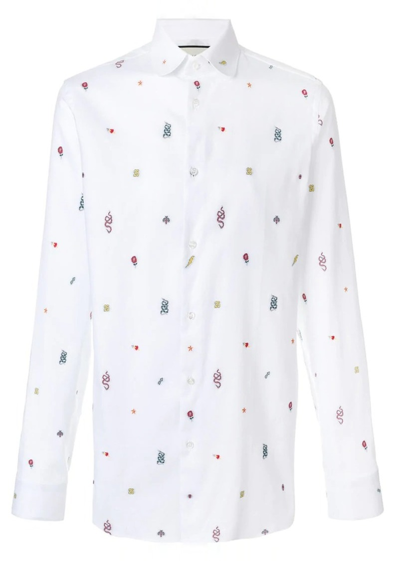 3eafe2bf Gucci embroidered motif shirt | Casual Shirts