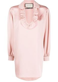 Gucci faille maxi blouse