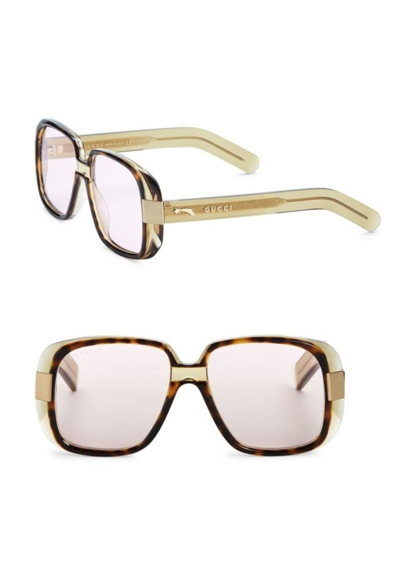 49fbaddc38b Gucci Fashion Inspired 51MM Square Sunglasses
