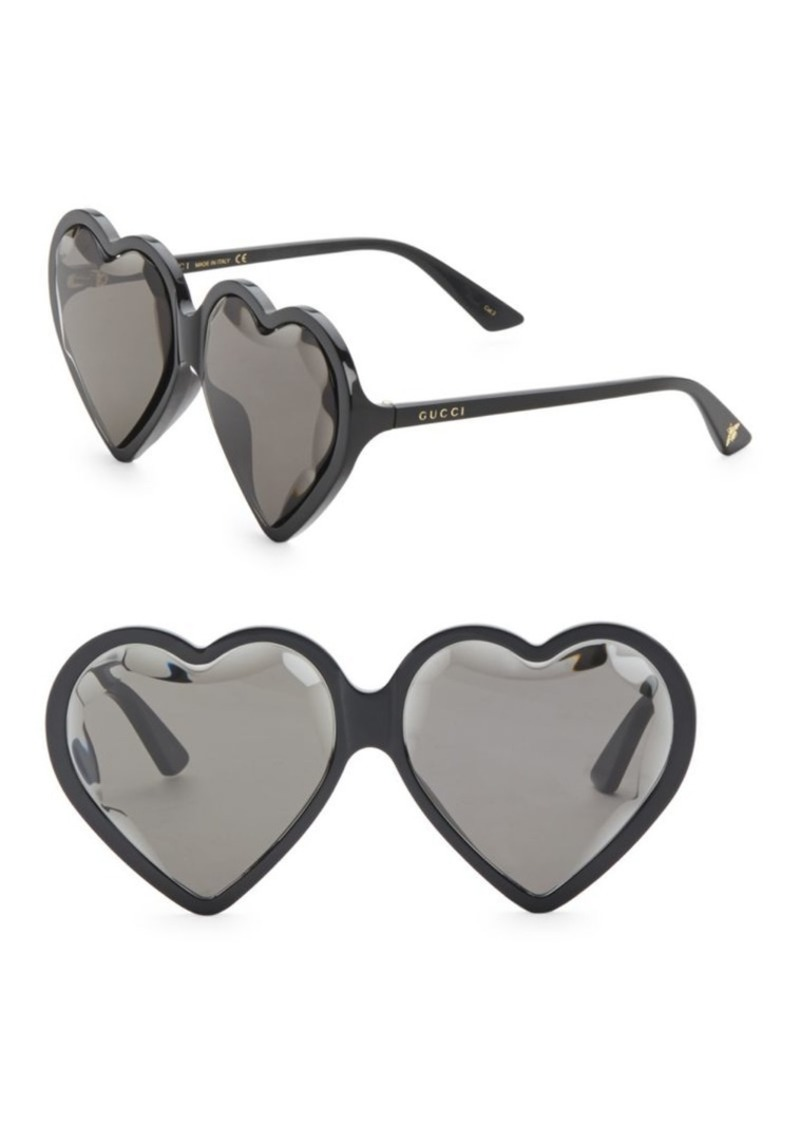 08cde43a1d Gucci Fashion Show Black Heart Sunglasses 60MM