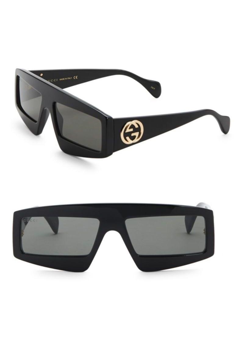 4937561907 Gucci Fashion Show Black Mask Sunglasses 61MM