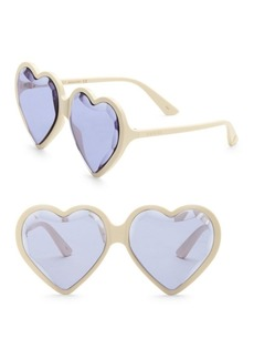 Gucci Fashion Show Ivory & Purple Heart Sunglasses/60MM