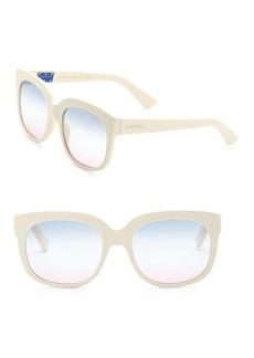 Gucci Fashion Show Ivory Square Sunglasses/56MM