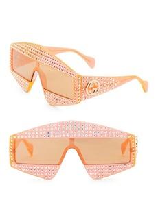 Gucci Fashion Show Orange & Crystal Mask Sunglasses/99MM
