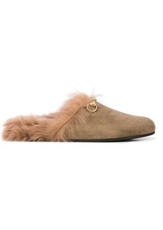 Gucci faux fur loafers