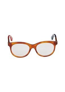 Gucci Faux Tortoiseshell 51MM Oval Optical Glasses