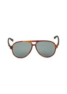 Gucci Faux Tortoiseshell 60MM Pilot Sunglasses