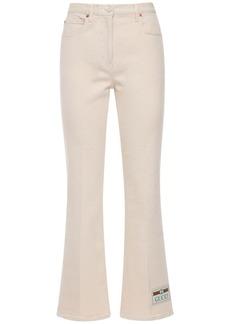 Gucci Flared Stretch Cotton Drill Jeans