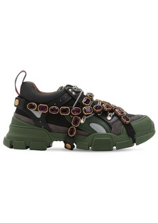 Gucci Flashtrek Leather & Mesh Sneakers