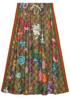 Gucci Flora pattern A-line skirt
