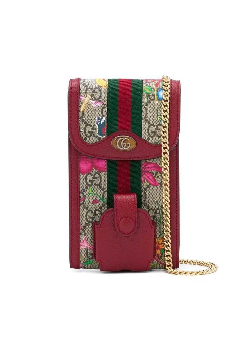 Gucci Flora pattern chain pouch